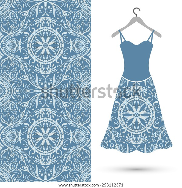 Vector Fashion Illustration Womens Dress On Stock Vector Royalty Free 253112371