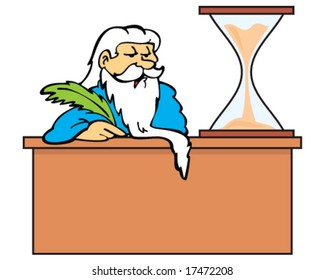 c93601ec Retro Accountant Green Visor Desk Stock Vector (Royalty Free ...