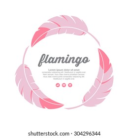 Vector Feather Logo Illustration,Colorful Feather,Feather logo of flamingo