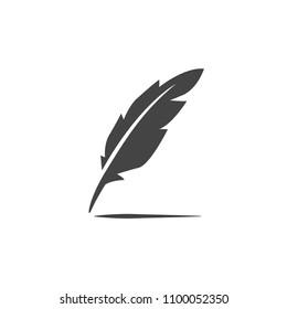 Vector feather pen icon