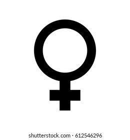 Vector female gender symbol
