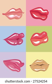 Vector female lips