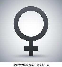 Vector female sex symbol