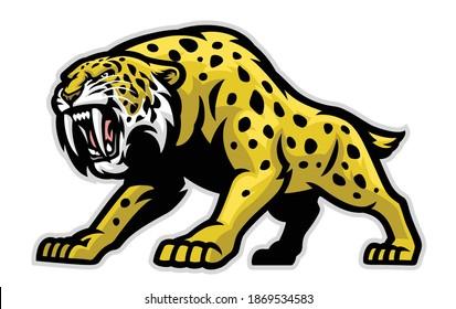 Vector of Ferocious Sabertooth Mascot