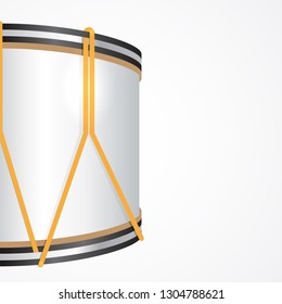 Vector Festive Background with a Majorette Drum