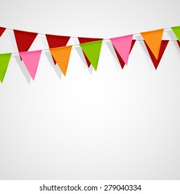vector festive illustration of bunting flags. decorative elements for design