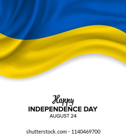 vector festive illustration of independence day in Ukraine celebration on August 24. vector design elements of the national day. holiday graphic icons. National day