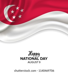vector festive illustration of independence day in Singapore celebration on August 9. vector design elements of the national day. holiday graphic icons. National day