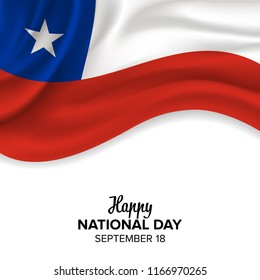 vector festive illustration of independence day in Chile celebration on September 18. vector design elements of the national day. holiday graphic icons. National day