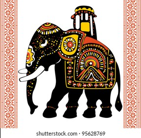 Vector of Festive indian elephant
