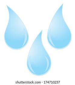 vector few water drops
