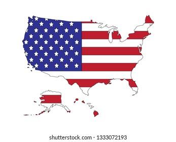 Vector File American Map Inscription Stock Vector (Royalty Free ...