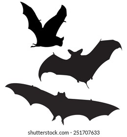 vector file of bats silhouette