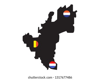 vector file of benelux map