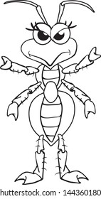 Vector file of a bug