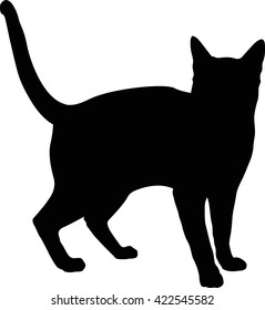 Vector file of cat silhouette 11