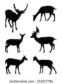 vector file of deer silhouette