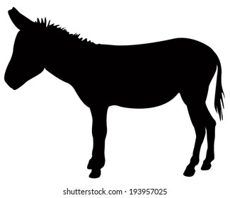 vector file of donkey