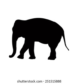 vector file of elephant silhouette