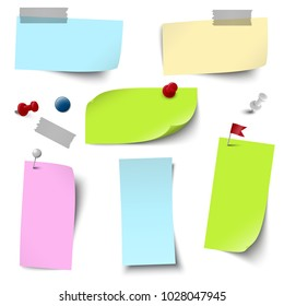 vector file of empty papers collection with different office accessories