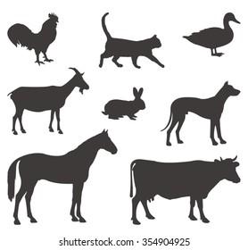 vector file of farm animals