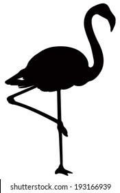 vector file of flamingo
