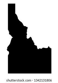 vector file of idaho map