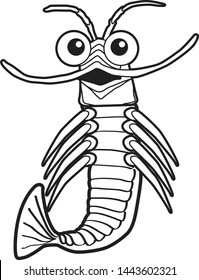 Vector file of a krill