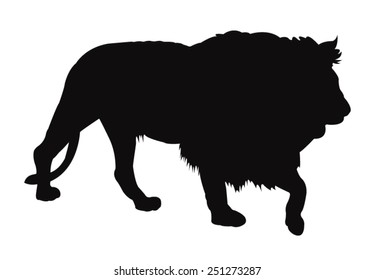 vector file of lion silhouette