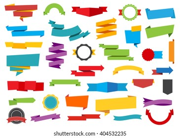 Vector file representing Labels Stickers Banners Tag and Ribbons collection.