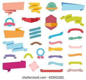 Vector file representing Labels Stickers Banners and Ribbons collection.