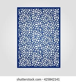 Vector filigree pattern for wedding invitation card.