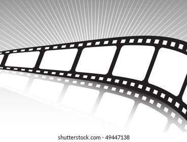 Vector film background twisted