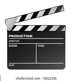 Vector film maker clapper board