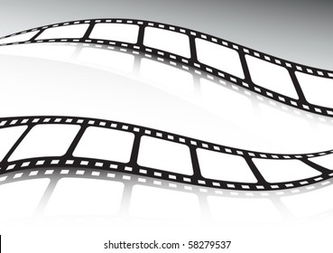 Vector film  roll double illustration set