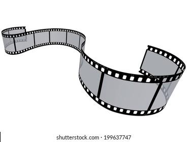 vector film strip 3D
