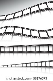 Vector film strip  background illustration collection
