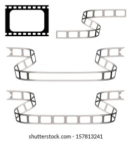 vector film strip black over white