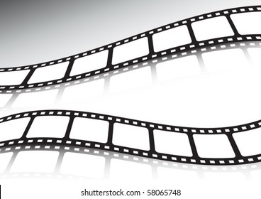 Vector film strip double background set