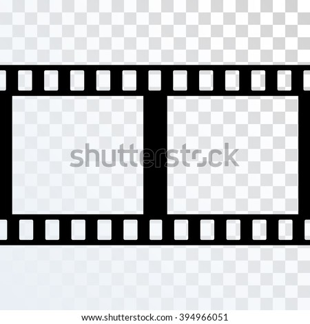 Vector Film Strip Illustration On Transparent Stock Vector Royalty