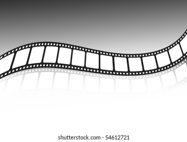 Vector film strip illustration twisted
