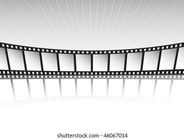 Vector film strip and rays