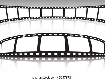 Vector film strip set of backgrounds