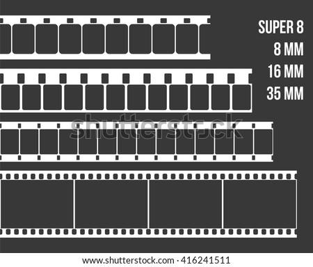 Vector Film Strip Set Illustration On Stock Vektorgrafik Lizenzfrei