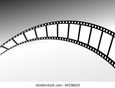 Vector film strip twisted