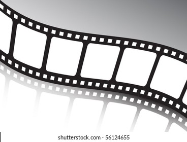 Vector film  strip twisted background illustration