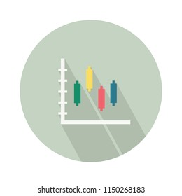 vector finance bar chart - infographic icon