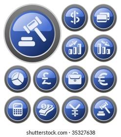 Vector: Finance buttons