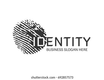 Vector - fingerprint logo design. Clean and modern fingerprint logo design.