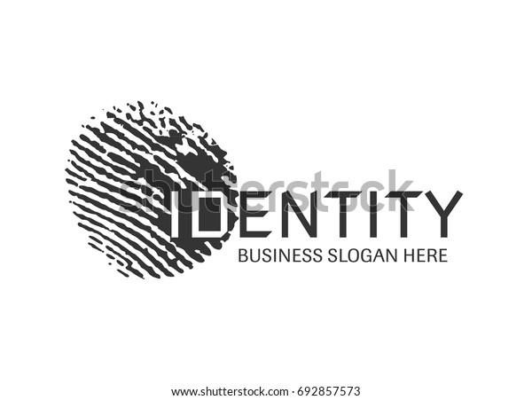 Vector - fingerprint logo design. Clean and modern fingerprint logo design.